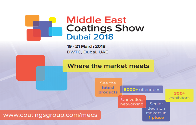 Middle East Coatings Show 2018 – Dubai